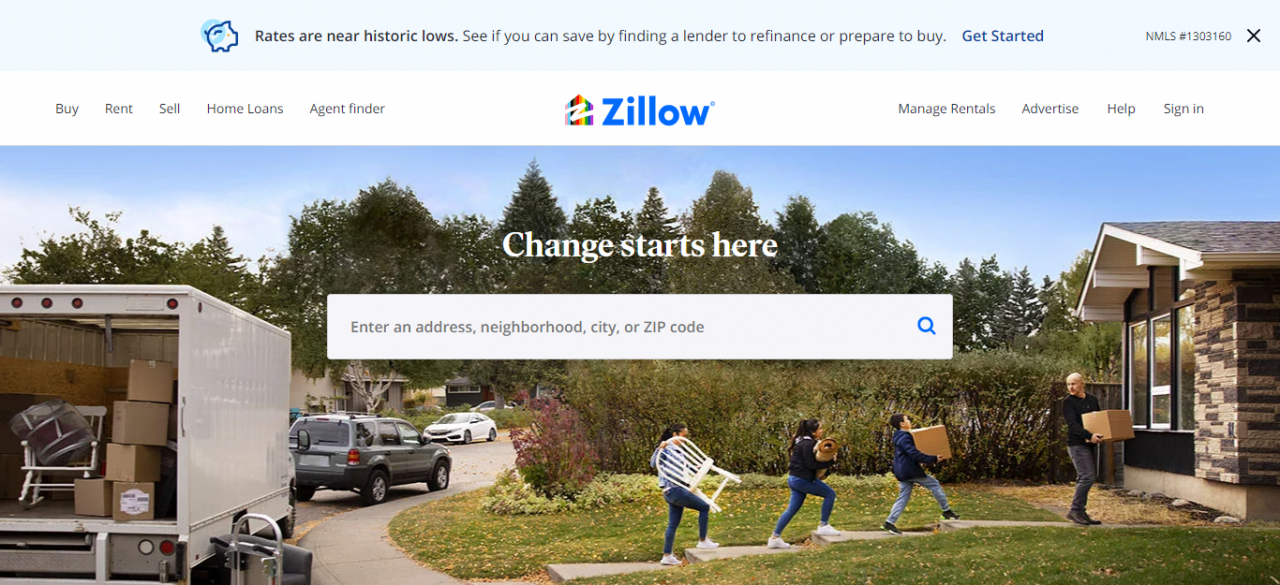 Zillow - Best Real Estate Web Apps by ColorWhistle