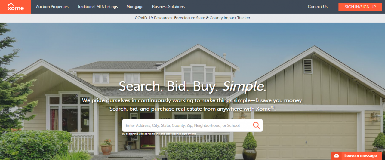 Xome - Best Real Estate Web Apps by ColorWhistle