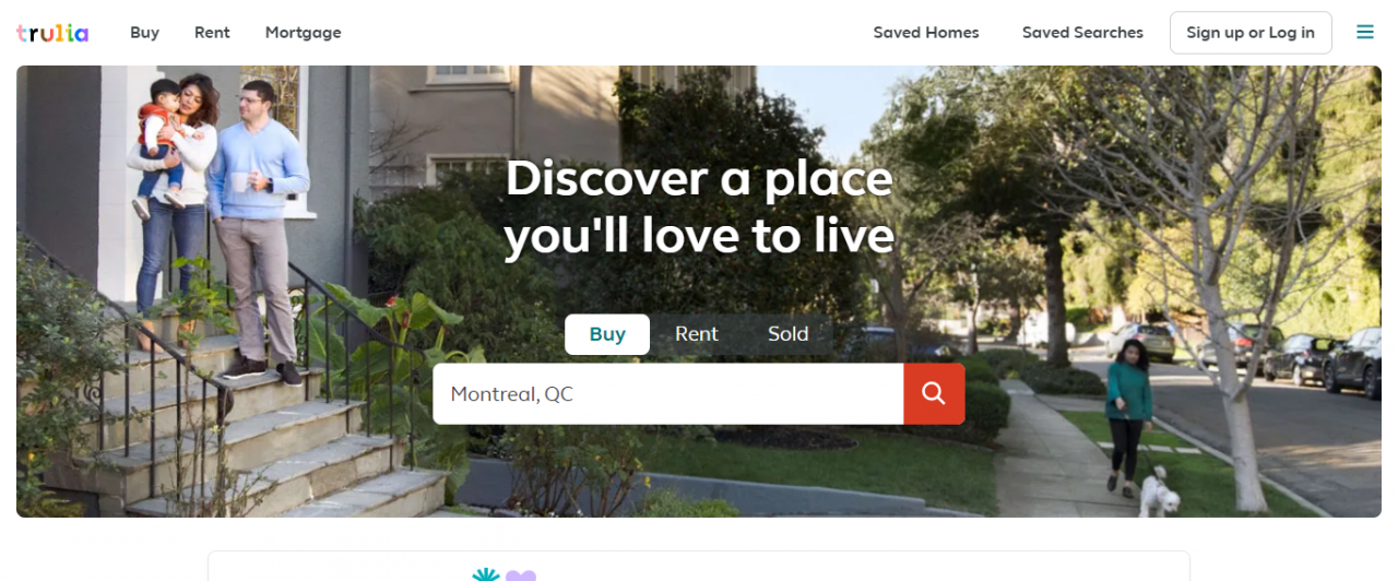 Trulia - Best Real Estate Web Apps by ColorWhistle