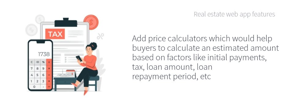 Real Estate Price Calculator Feature by ColorWhistle