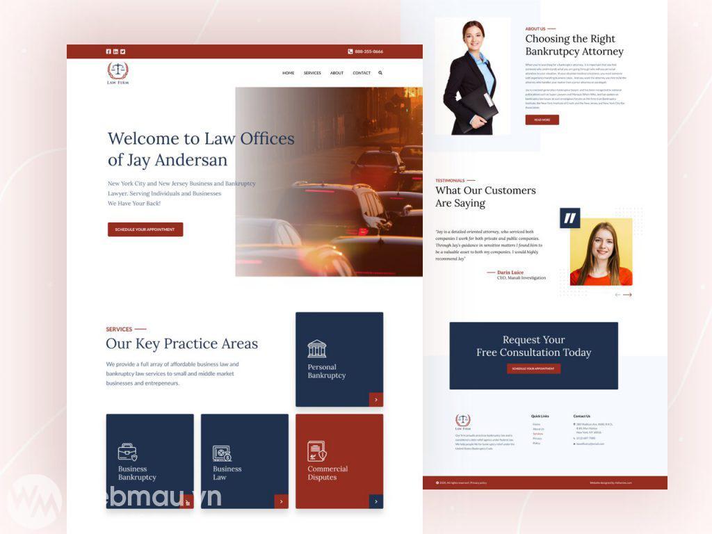 thiết kế website công ty luật